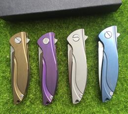 Wholesale Hunter Bear - Hati tactical ceramic bearing f95 D2 fin folding blade TC4 titanium alloy processing camp hunter EDC of outdoor survival knife tools