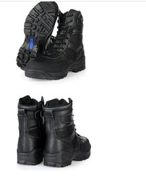 Wholesale Tactical Climbing Boots - New Fashion Black Unisex 07, tactical combat boots desert boots outdoor climbing desert mountain high boots