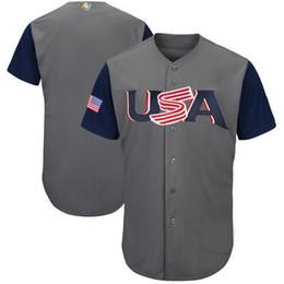 Wholesale Cheap Baseball Uniform - 2017 World Baseball Classic Jersey Custom Baseball Shirts Cheap Baseball Jerseys Blank USA World Classic Jersey Top Selling Uniform