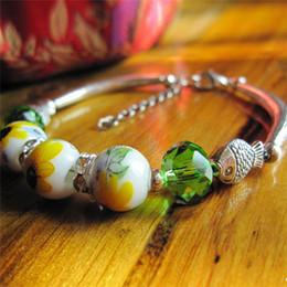 Wholesale China Designer Bangles - 2016 Spring Korean Designer Fashion Bohemia Beads Bracelet Beaded Multilayer Strand Stretch Bracelets Bangles For women Girl