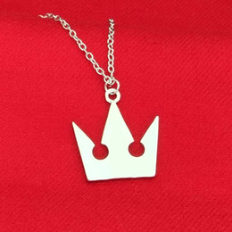 Wholesale Crown Pendant Men - New Kingdom Hearts Sora Crown Pendant Necklaces Silver Pendants Women Men Chritsmas Gift Fashion Jewelry 161746