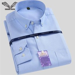 Wholesale Uomo Shirt Xl - Wholesale- Mens Casual Striped Shirts 2017 Spring Autumn Cotton Male Shirt Long Sleeve Slim Fit Popular Camicia Uomo N1085