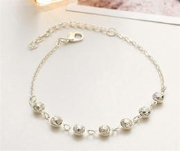 Wholesale Pearl Jewely - Vintage Fashion Imitation Pearl Crystal Anklets For Women Stainless Steel Shoe Chain Bracelet Foot Jewelry 2017 Summer Sexy Beach Jewely