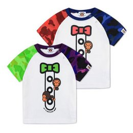 Wholesale Kids Boys Fashion Shorts - New Arrival Summer Children's Clothing Tees Boy And Girl Cotton Short Sleeved T-shirt Cool Cartton Print Kids T-Shirts Free Shipping
