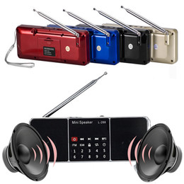 usb-flash-laufwerk lautsprecher-player Rabatt Großhandels-Beweglicher FM Radio MP3-Musik-Spieler-Unterstützungs-TF-Karten-USB-Blitz-Antriebs-Lautsprecher-Digital-Radio-Spieler-starkes Signal mit Batterie