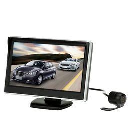 Wholesale Rear View Camera Tft - 5 Inch TFT LCD Display Monitor Car Rear View Backup Reverse System + HD Parking Camera K4274
