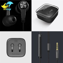 Wholesale Earphone Mic Remote - Xiaomi Piston 3 Earphones M5 3.5mm Miband Stereo cell phone Earphones Earbuds With Remote Mic handsfree volume earphone