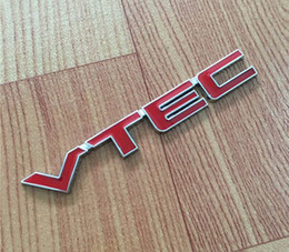 VTEC Amblem Rozet Logo 3D Araba Styling Metal Sticker Tamir Çıkartması Honda Civic Accord Odyssey Spirior CRV Için Çamurluk Kuyruk Gö ... nereden sivil çıkartmalar tedarikçiler