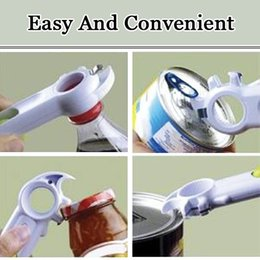 Wholesale Soda Can Bottle - 7 In 1 Multi-Function Opener Automatic Bottle Can Jar Beer Wine Soda Opener Open Cans Lift Tabs Kitchen Cooking Tools