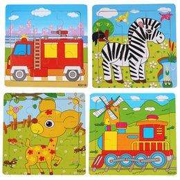 Wholesale Promotion Games Baby - Quality Promotion Colorful Wooden Animal And Traffic Puzzle Educational Toys Developmental Baby Toy Child Early Training Game