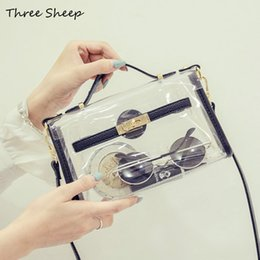 Wholesale Small Transparent Beach Bags - Wholesale-PVC Transparent Bags Summer Beach Bag Waterproof Messenger Bags Small Ladies Party Purse Bolso Playa Sac a Main Transparent