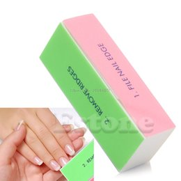 Wholesale Nail Shiner Buffer Buffing Block - Wholesale- 1Pc Nail Art Manicure 4 Way Shiner Buffer Buffing Block Sanding File -B118