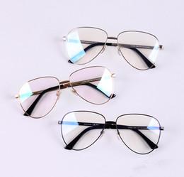 Marca Glasses-2017 Nuevo Diseñador de Moda Piloto Anteojos Mujeres Gafas Hombres Vintage Big Frame Anti-azul Lente Miopía Gafas Gafas hombre 2280 desde fabricantes