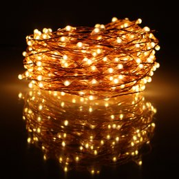 wholesale 49ft 15m 300led chrismas halloween string lights decoration party copper wires led fairy lights12v1a adaptereuukusau plug from dropshipping