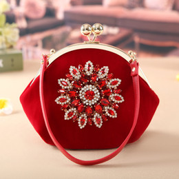 Wholesale Women Bag Make Up - 2017 New Fashion Brand Women Fashion Diamonds Corduroy handbag Cosmetic Bags Make Up Travel Toiletry Storage bag Makeup Bag