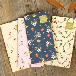 Wholesale Diary Book Flower - Wholesale- 1 x vintage fresh Flowers plant notebook diary 48K notepad stationery papelaria hand books school office supplies