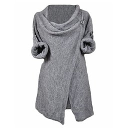 Wholesale Plus Sizes Woman Sweaters - Wholesale-2016 Autumn Winter Clothes Women Casual Solid Sweaters Pullovers Long Sleeve O Neck Knitted Blouse Tops Sweater Plus Size