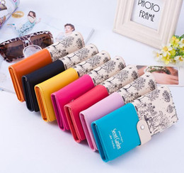 Конфеты цвет кошельки сцепления чековая книжка клип сумка кошелек Секретный сад PU кожаный кошелек 20 шт. Бесплатная доставка от