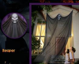 Halloween Aktivitäten Requisiten Bar KTV Supermärkte Geisterhausdekoration hängenden Geist-Schädel schwarz orange weiß 047 von Fabrikanten