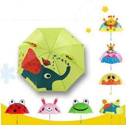 Wholesale Umbrellas Children - New Arrival 18 Inch Animal Kids Umbrellas Cute Princess Girls Boys Portable Small Umbrellas High Quality Parasol For Age 2-6