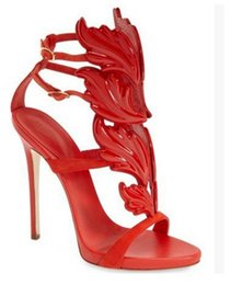 Wholesale Navy Blue Satin Pumps - Hot Sexy multicolor metal flame leaves elegant stripe hollow-out peep-toe high-heeled sandals water proof table Female shoes DHL free