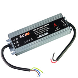 Poder del conductor 12v online-SANPU Fuente de alimentación ultradelgada Impermeable IP67 12V 24V 60W 100W 120W AC-DC Transformador de iluminación Controlador LED Aluminio para LED Tiras Luces