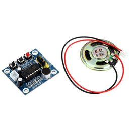 Wholesale Speakers Recording - Wholesale-3 Set Sale ISD1820 Sound Voice Recording Playback module with micro - sound audio speakers