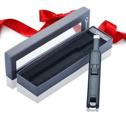 lareira atacado Desconto Atacado-1pcs USB rechareable recarregável elétrico à prova de vento mais leve como fumar accessary churrasco lareira fogão arco de cozinha mais leve