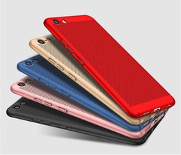 Wholesale Iphone Case Net - Phone Case Full Cover Matte Shell Mesh Net Grid Hollow Out Dot Back Cover for iPhone7 7plus 6s 6G heat dissipation fine permeability