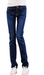 Wholesale Cheap Female Jeans - Wholesale- straight jeans trousers female summer tide stretch Slim thin section was thin loose students women selling cheap clothes china