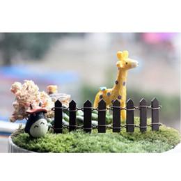 Wholesale Wooden Garden Fences - Wholesale-10x3cm Beautiful Wooden Fence Garden Ornament Accessory Plant Pots Fairy Scenery Decor Different Colors