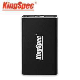 Wholesale Vista Interface - Wholesale- KINGSPEC mSATA to USB3.0 Interface Metal Hard Disk Box Solid State Drive External Enclosure No Memory for Win 8 7 VISTA XP MAC