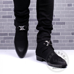 Wholesale Korean Style Office Dress - Hook Loop Nubuck Casual Warmth Winkle Picker Booties Mens Winter Boots New Cotton Padded Korean British Style Funky Fashion