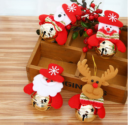 Wholesale Stuffed Bear Ornaments - new Doll bell ornaments Christmas bell old Snow Deer Christmas decorations and Christmas tree festival gifts