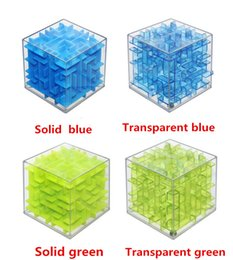 Wholesale 3d Puzzle Ball Game - Wholesale- Cool!! Maze Magic Cube Puzzle 3D Mini Speed Cube Labyrinth Rolling Ball Toys Puzzle Game Cubos Magicos Learning Toys For Chilr