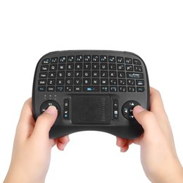 Wholesale Raspberry Wireless - New Mini KP-810-21T 2.4GHz Wireless Handheld Qwerty Keyboard Touchpad Mouse iPazzPort Portable for Smart TV Box Raspberry Pi HTPC +B