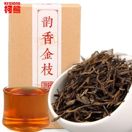 Wholesale Golden China - C-HC007 China dian hong Yunnan black tea red box Chinese gifts tea spring feng qing fragrant flavor golden bough of pine needle
