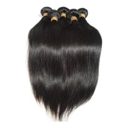 Wholesale Product Retail - Retail 1pc New virgin peruvian hair straight fast shipping human hair extension hair products free shedding