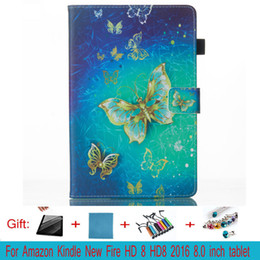 Wholesale Kindle Case Purple - For Kindle hd 8 tablet Case protects the skin from the TPU