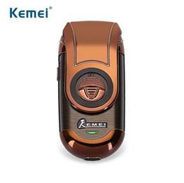 Canada Kemei km-Q788 Rasoir électrique portatif 3D Double flottant rechargeable barbe rasoir rasoir alternatif Approvisionnement de voyage pour les hommes supplier 3d men razor electric shaver Offre