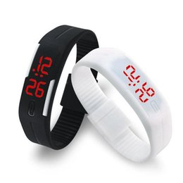 Wholesale Digital Bracelet Watches For Men - 2017 digital watches Candy Color Men Women Watch Rubber LED kids Watches Date Bracelet Digital Sports Wristwatch for children