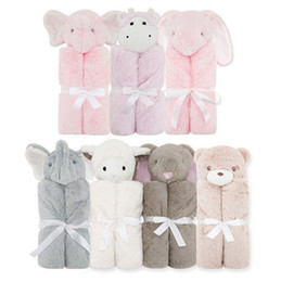 Wholesale Animal Comforters - Blanket Swaddling Infant wrap Comforter Velvet Animal toy warm winter 2016 Ins Wraps Blankets Comfort Bedding Supplies Quality 76*76cm