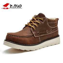 Wholesale Classic Crazy Horse - Wholesale- Wholesale New Autumn Winter Men's Tooling Boots The Best Quality Crazy Horse Leather High Top Classic Man Work Shoes