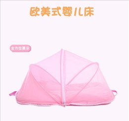 Wholesale Folding Baby Crib Portable - Infant Baby Bedding Crib Baby Tent Portable Mosquito Mesh Netting Toddler Cots Free Installation Multifunctional Folding Baby Nets Triple Yu