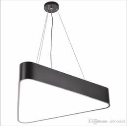 Wholesale Triangle Pendant Lighting - Modern Lustre Luminaire Triangle Led Pendant Light Office Pendant Lamp Indoor Lighting Fixture Lampadas Suspension Lamp