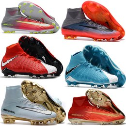 Wholesale Soccer Boots Acc - wholesale Mercurial Superfly FG Soccer Shoes High Ankle Football Boots ACC Outdoor Mercurial Superfly CR7 Cleats Magista Obra 2 sports