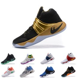 Wholesale Usa Arts - 2017 Kyrie Irving Shoes Mens Basketball Shoes Kyrie 2 II champion PE USA Inferno BHM Effect high quality Sneakers sports shoes eur 40-46