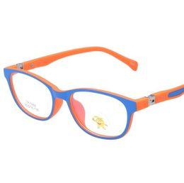 Wholesale Wholesale Lense Glasses - Wholesale- New Anti-radiation Children's Glasses Frame Ultra-light TR90 Kids Glasses Children TR Optical Lense Safe Boys Girls 5002