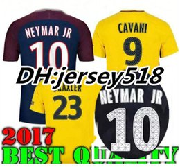 Wholesale Soccer Jerseys Paris - 17 18 VERRATTI thai quality Paris NEYMAR JR soccer jersey 2017 CAVANI MARQUINHOS LUCAS DI MARIA MATUIDI DANI ALVES football shirts
