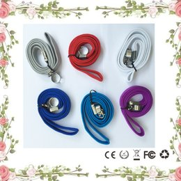 Wholesale Ecigarette Lanyards - Ego neck lanyard o ring clips ego necklace string lanyard chain strap for ego series ego-t ego-c ego-w battery vapor pen ecigarette ecig